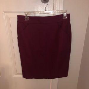 J.Crew Factory Pencil skirt in Dark Berry